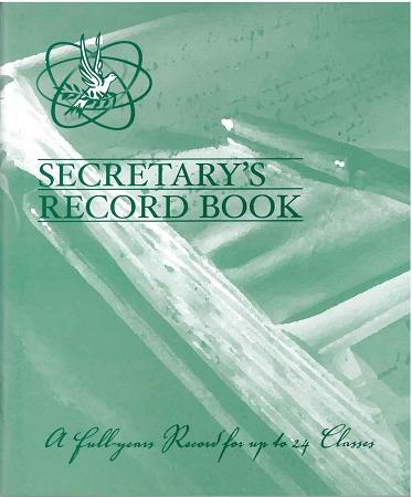 Sunday School Secretary Record Book