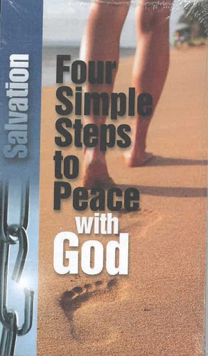 Tract - Four Simple Steps to Peace with God (25 Count)