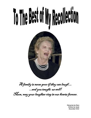 To The Best of My Recollection - by Janet Miller [Digital Download]