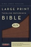 KJV Large Print Thinline Reference by Hendrickson