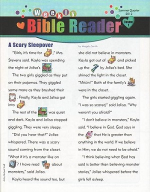 Fall 2020 Early Elementary Weekly Bible Reader