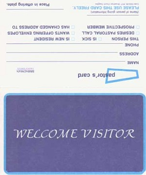 Welcome Visitor Cards