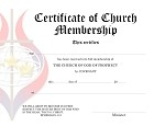 Church of God of Prophecy Membership Certificate
